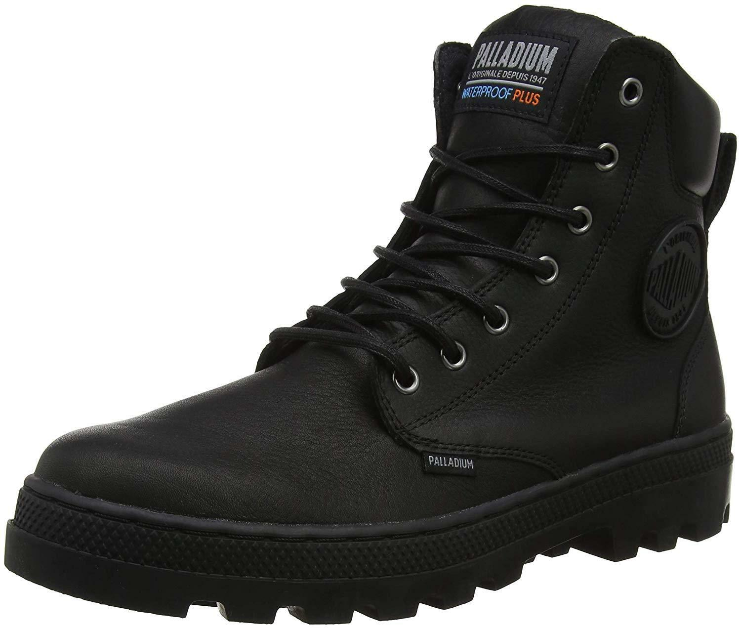 Men's Palladium Boots WaterProof Sport Cuff Pallabosse SC WP Black Leather