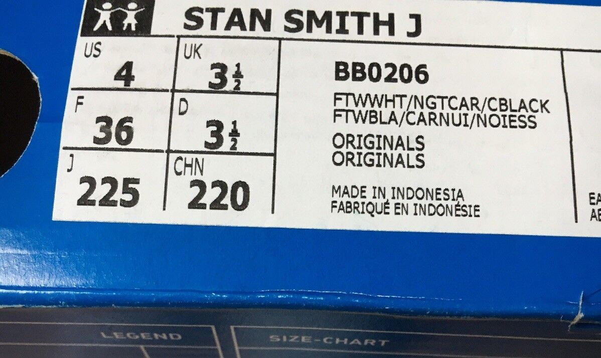 Adidas stan smithvj smithvj smithvj bianca tallone bb0206 logo dimensione croc campo nero 3,5 | Grande Svendita  | Uomo/Donne Scarpa  352ffb