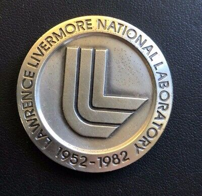 40.4gm .999 Silver Round 1982 Lawrence Livermore National Laboratory 1.3oz OGP