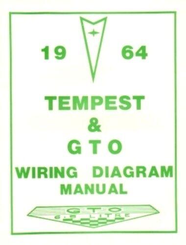 pontiac 1964 tempest gto wiring diagram 66 ebay rh ebay com