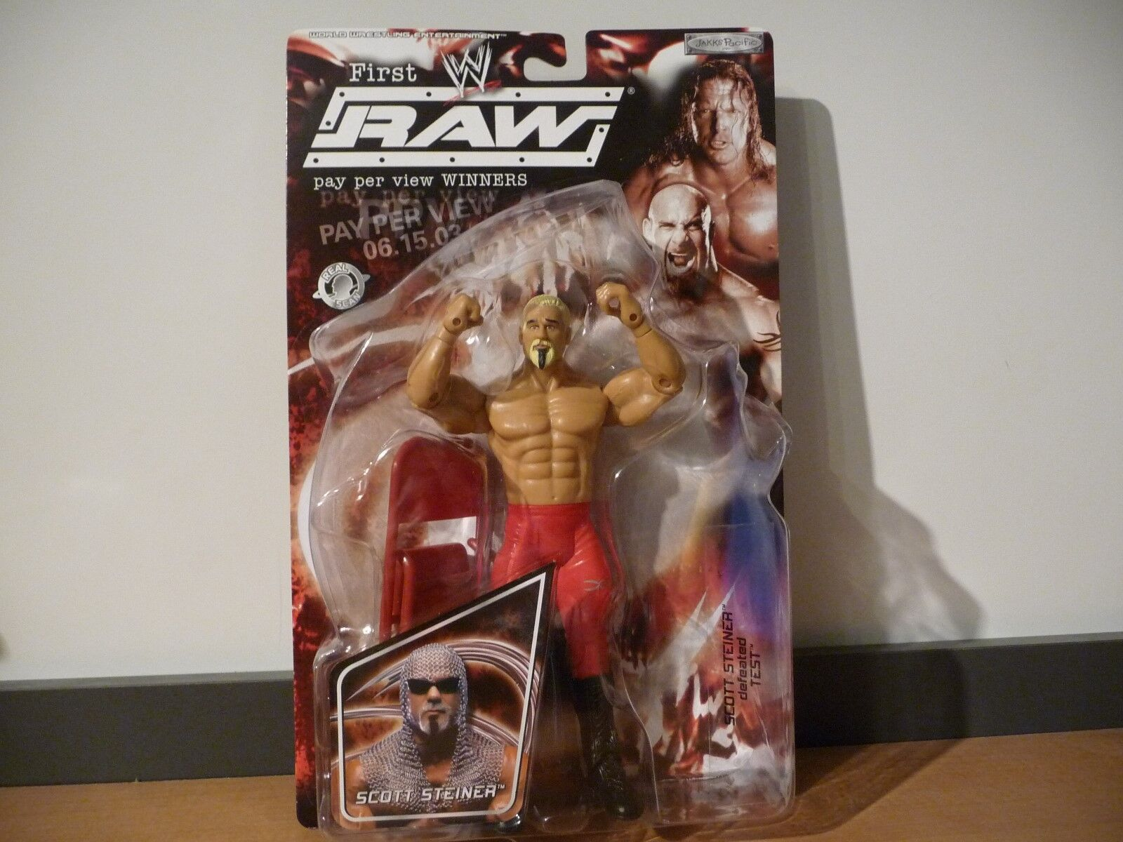 MOC WWE First Raw Pay Per View Winners Scott Steiner 2003 Jakks Pacific