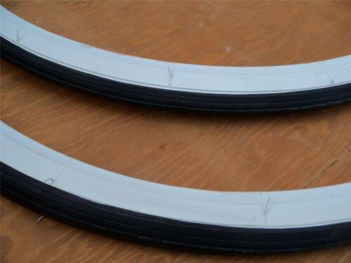 2 26 x 1 3//8 Bicycle White Wall Tires + Inner Tubes Bicycle NEW** 2