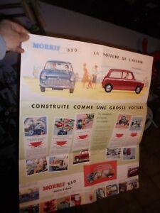 Grand-Ancien-Catalogue-Affiche-Mini-British-Leyland-Austin-Morris-850