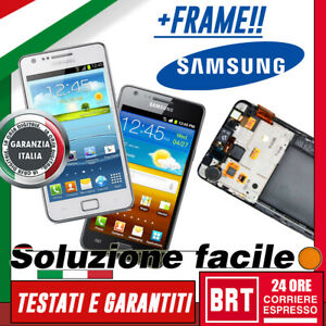 LCD-TOUCH-SCREEN-FRAME-PER-SAMSUNG-GALAXY-S2-GT-I9105-I9100-DISPLAY-SCHERMO-24H
