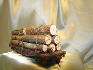 1--Big logging car - get the big ones out of the woods- handmade-Lot # 1  HO
