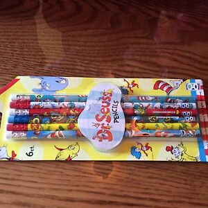 Dr-Seuss-pencils-pack-of-6-New-Sealed
