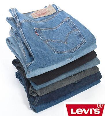Levis 501 Jeans In Denim Grado A Meno-vintage W30 W31 W32 W33 W34 W36 W38-mostra Il Titolo Originale Aspetto Bello