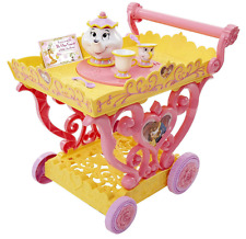 GIRLS Beauty and The Beast MUSICAL TEA CART 7pc Pretend Play Set Mrs Potts Chip