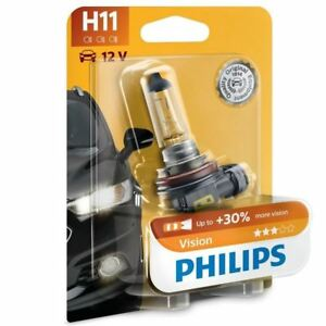 Philips-Vision-H11-12V-55W-PGJ19-2-Faro-Bombilla-mas-luz-12362PRB1-x1