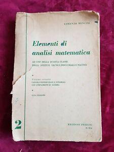 LIBRO-BOOK-elementi-di-analisi-matematica-volume-secondo-bencini-lorenzo-GAT1