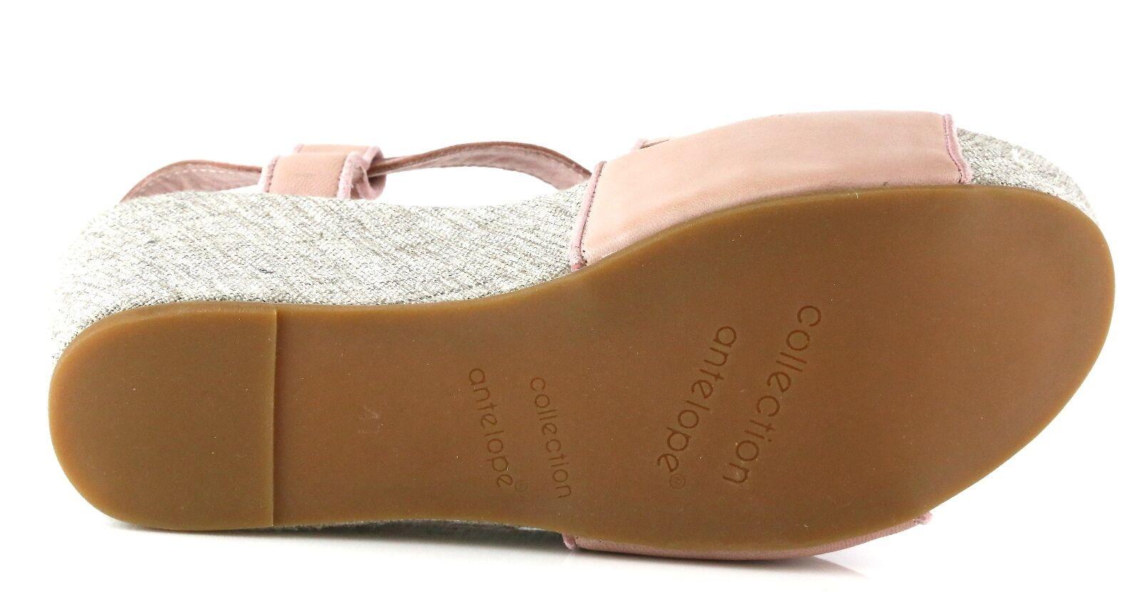 Antelope 858 Pink Leder Wedge Sandales 7050 Größe 39 EU EU 39 NEW 7c3b47