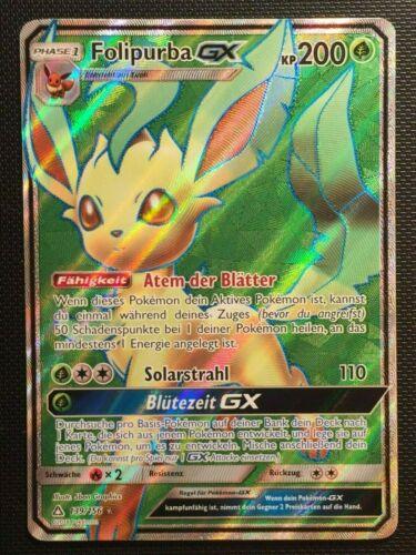 Folipurba GX Ultra Prisma 139//156 Full Art Pokemon! Ultra Rare DE Near Mint