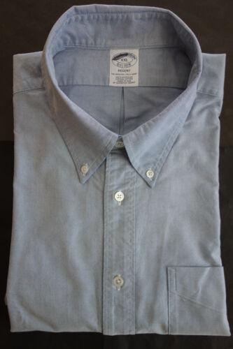 NWOT Brooks Brothers Blue Supima Button Down XXL 18.5-35 Regent Slim MSRP $140