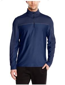 CALVIN-KLEIN-Navy-Blue-1-4-Zip-Lightweight-Performance-Pullover-NWT