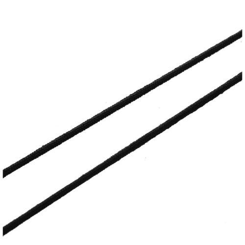 Fil Corde cordon elastique bricolage noir 10 mt//1mm X4T7 K7