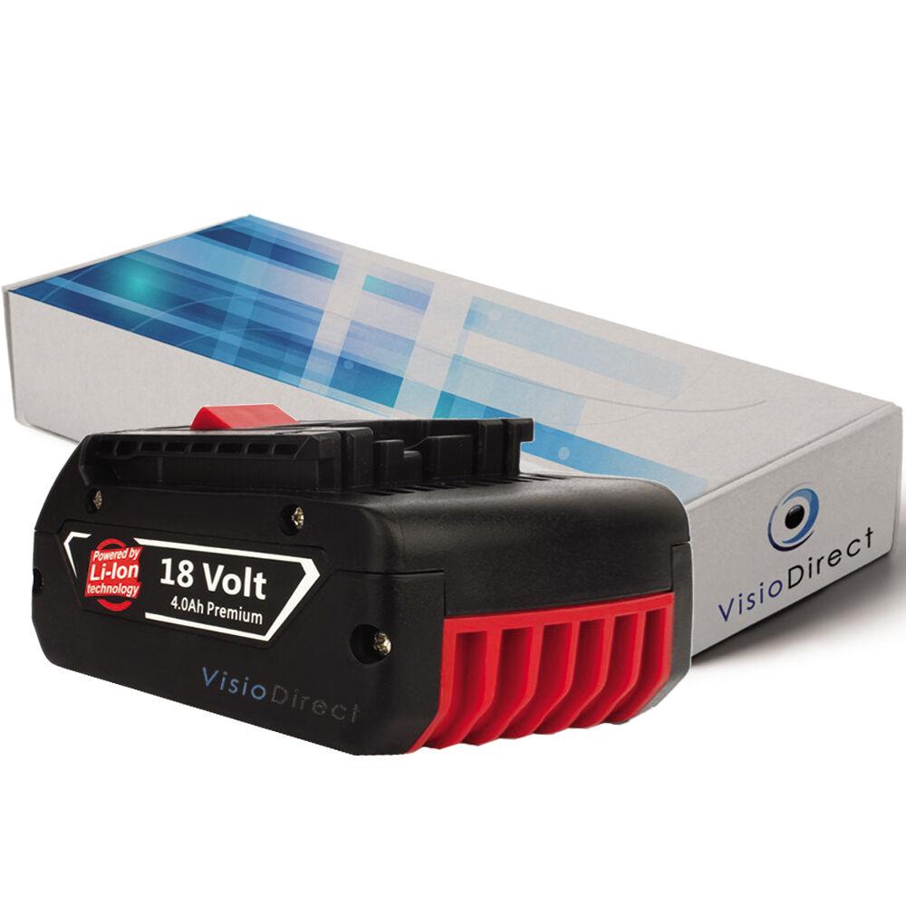 Batterie 18V 4000mAh pour Bosch GSR 18-2-LI  - Société Française -