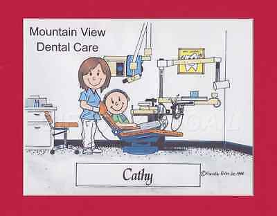 DENTAL ASSISTANT Gift Personalized Custom Cartoon Person Picture