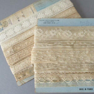 2-Bolts-Vintage-Slender-French-LACE-Trims-Valenciennes-1-2-034-1-1-4-034-Wide-DOLLS