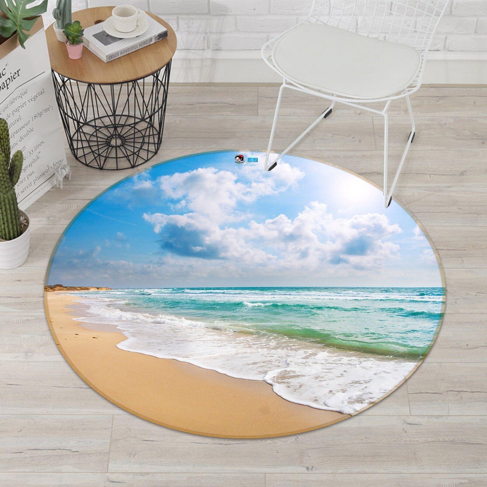 3d mar de arena de playa 42 antideslizante alfombra de maletero rondas elegante alfombra