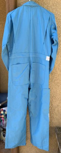 Vintage United Airline Mechanics Coveralls Jumpsuit Mens 38-S Logo Patch NOS USA