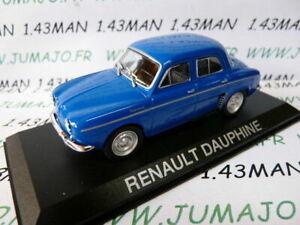 RE74G-Voiture-1-43-IXO-DEAGOSTINI-Balkans-RENAULT-Dauphine-bleu