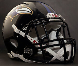 fa24d6f91 Image is loading CUSTOM-BALTIMORE-RAVENS-NFL-Riddell-Speed-AUTHENTIC -Football-