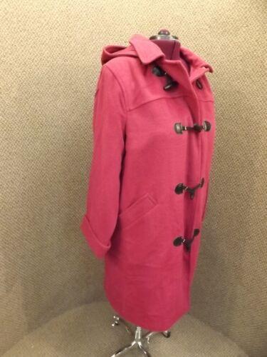 manteau bordeaux 18 à classique bordeaux London intemporel Nouveau capuche bordeaux en J laine EpwRqap