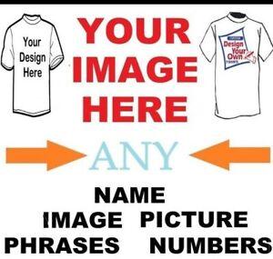 GLOW IN THE DARK CUSTOM Lettering DIY MASK LOGO,T-Shirt Clothing Transfer lot
