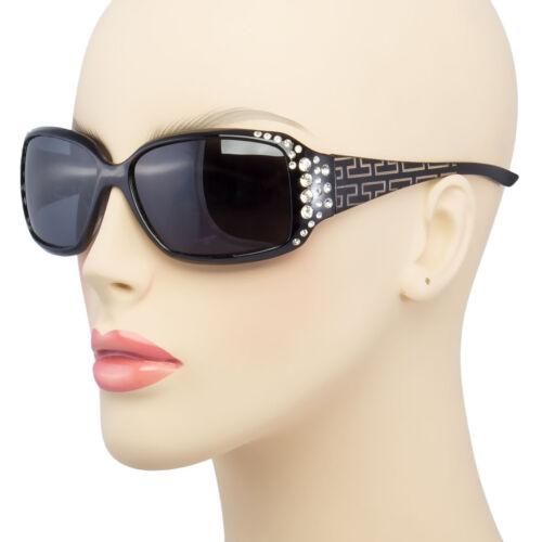 NEW Polarized Women/'s Sunglasses RHINESTONE Fashion Eyewear Black Brown Shades