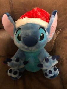 Lilo-amp-Stitch-Santa-Stitch-Holiday-Plush-Genuine-Authentic-Disney-Parks-Item