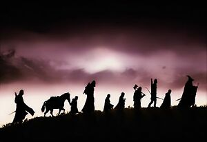 Image is loading The-Lord-of-the-Rings-The-Fellowship-of- & The Lord of the Rings The Fellowship of the Ring Large Canvas ...