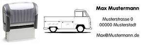 VW Bus T2 - Pritsche - Motiv-Automatik-Stempel - mit Wunschtext