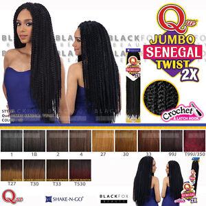 Image Is Loading Que Jumbo Senegal Twist 2x Crochet Bulk Braiding