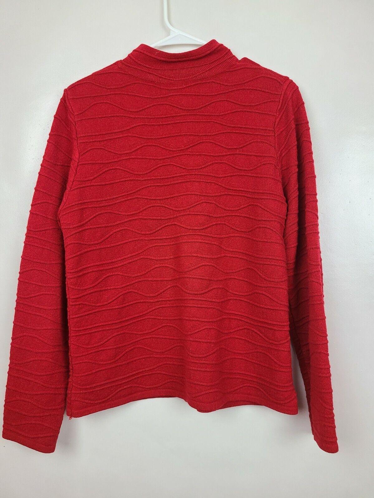 Coldwater Creek Womens Cardigan Sweater Medium Re… - image 3