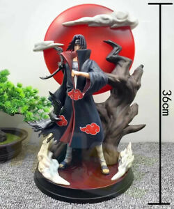 Naruto-Uchiha-Itachi-Tsukuyomi-Estatua-Figura-Pintada-Juguete-36cm-Con-Luz-Led