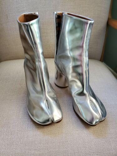 Maison Margiela Silver Tabi Boot Size 36