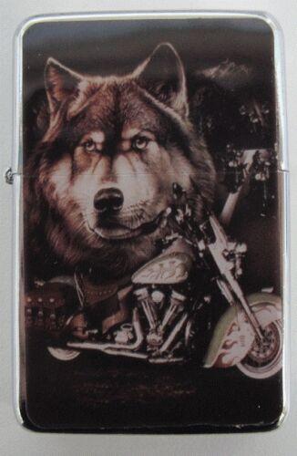 Wolf /& Bike Design Star Lighter In Gift Tin