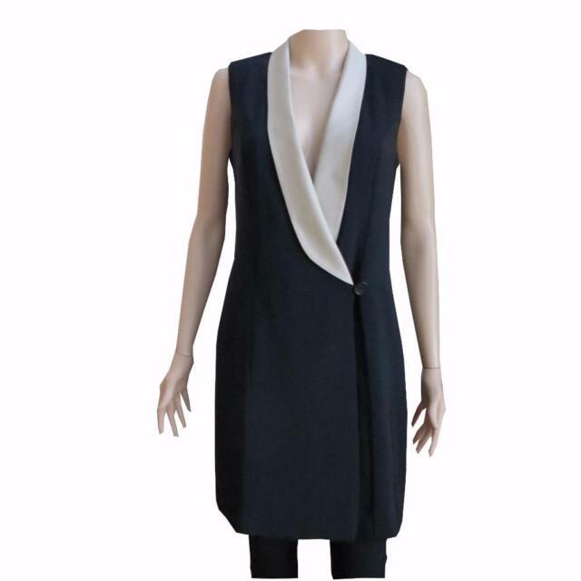 Buy Sisley Women s Black Tuxedo Dress Size Small Retail online  6a1d2ff3f