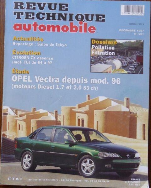 Goedhartig Neuf Revue Technique Opel Vectra Diesel 1.7 2.0 83ch Rta 601 1997 Citroen Zx Tu