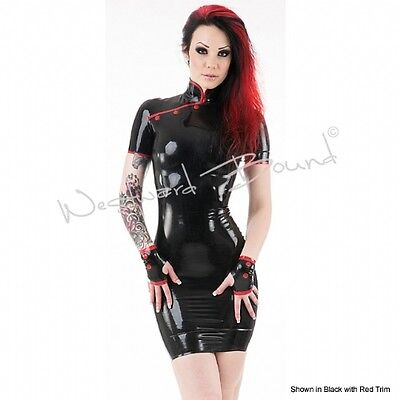 R1605 WESTWARD BOUND Latex Rubber Dress Fashion Couture Seconds RRP £199