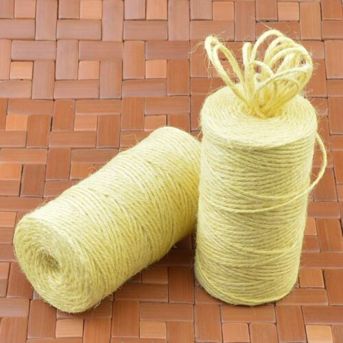 100M 3Ply Burlap Natural Fiber Jute Twine Rope Cord String Craft DIY Gift Deco