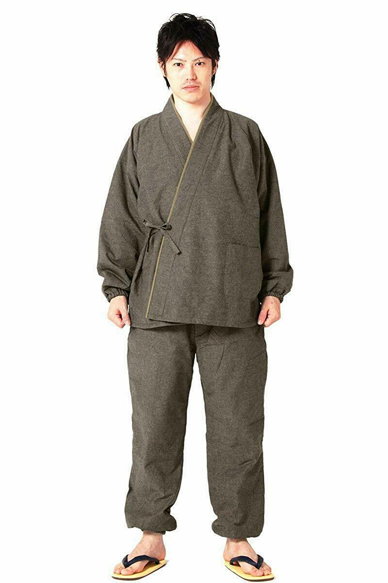 Men's Samue Brown Japanese traditional work wear for winter warm wear any size