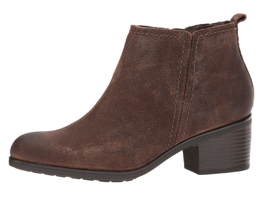 New Rockport Danii Side Zip Women Leather Leather Leather Booties brwn 49bb7c