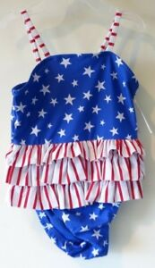 efa5288325 BN ~ Baby Gap Red, White, Blue Patriotic One Piece Swimsuit Girl's ...