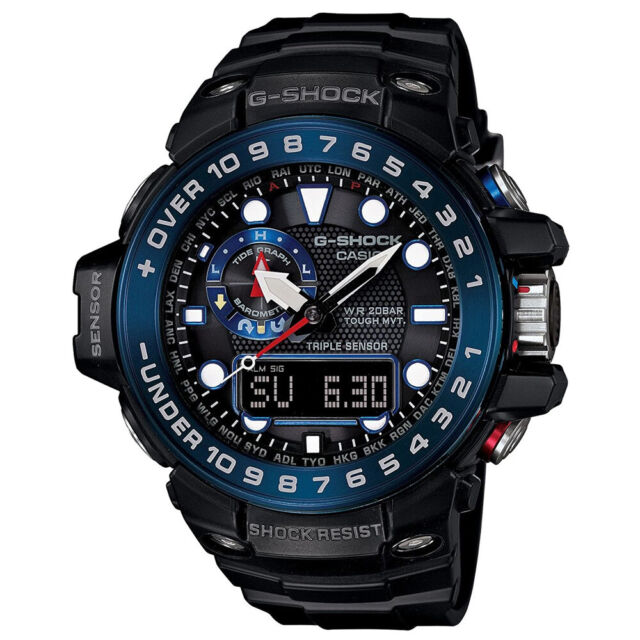 Casio G-Shock Gulfmaster Triple Sensor Solar Powered Watch GShock GWN-1000B-1B
