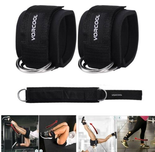 VORCOOL Ankle Straps Gym Leg Cable Pulley Attachment Multi Weight Lifting D Ring