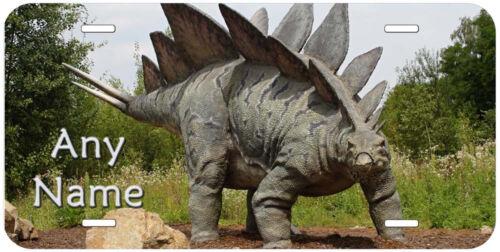 Stegosaurus Dinosaur Aluminum Novelty Car Auto License Plate P06