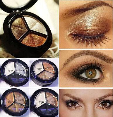 #1 Palette 3 Colors Make Up Eyeshadow Beauty Natural Smoky Eye Shadow Set