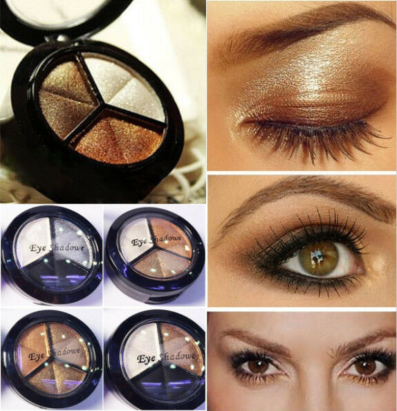 #1 Palette 3 Colors Make Up Eyeshadow Beauty Natural Smoky Eye Shadow Set