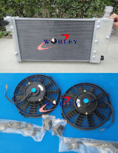 PEUGEOT-106-GTI-RALLYE-CITROEN-SAXO-VTR-1996-2001-Aluminum-Radiator-amp-Dual-Fan